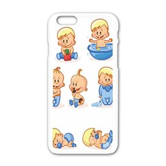 Cute Baby Picture Funny Apple Iphone 6/6s White Enamel Case by AnjaniArt