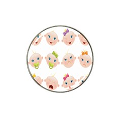 Cute Baby Picture Hat Clip Ball Marker (10 Pack)
