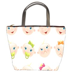 Cute Baby Picture Bucket Bags by AnjaniArt