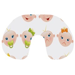 Cute Baby Picture Travel Neck Pillows by AnjaniArt