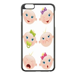 Cute Baby Picture Apple Iphone 6 Plus/6s Plus Black Enamel Case