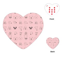 Dog Pink Playing Cards (heart)