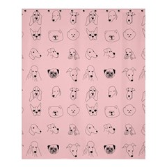 Dog Pink Shower Curtain 60  X 72  (medium)