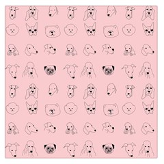 Dog Pink Large Satin Scarf (square)