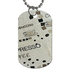 Coffe Cup Dog Tag (two Sides) by AnjaniArt