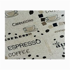 Coffe Cup Small Glasses Cloth (2 Side)