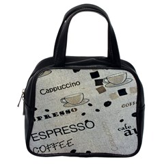 Coffe Cup Classic Handbags (one Side)