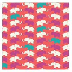 Elephant Large Satin Scarf (square) by AnjaniArt