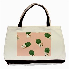 Flower Pot Basic Tote Bag by AnjaniArt