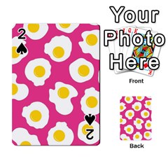 Fried Egg Playing Cards 54 Designs