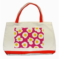 Fried Egg Classic Tote Bag (red)