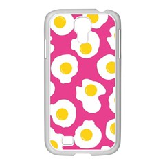 Fried Egg Samsung Galaxy S4 I9500/ I9505 Case (white) by AnjaniArt