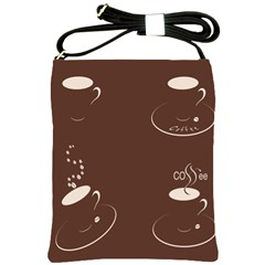 Four Coffee Cups Shoulder Sling Bags by AnjaniArt