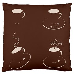 Four Coffee Cups Standard Flano Cushion Case (one Side)