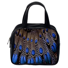 Feathers Peacock Light Classic Handbags (one Side)