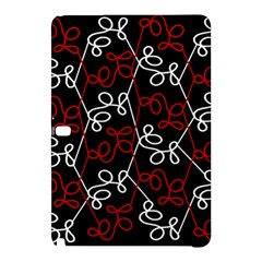 Elegant Red And White Pattern Samsung Galaxy Tab Pro 10 1 Hardshell Case by Valentinaart