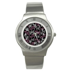 Elegance   Pink Stainless Steel Watch by Valentinaart