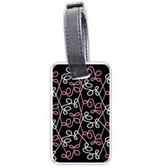 Elegance   Pink Luggage Tags (one Side)  by Valentinaart