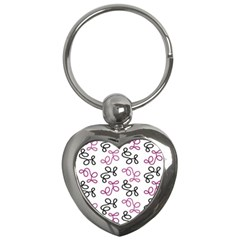 Magenta Elegance  Key Chains (heart)  by Valentinaart