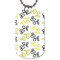 Yellow Elegance Dog Tag (one Side) by Valentinaart