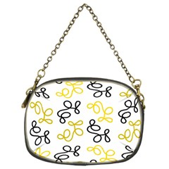 Yellow Elegance Chain Purses (two Sides)  by Valentinaart