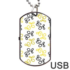 Yellow Elegance Dog Tag Usb Flash (one Side) by Valentinaart