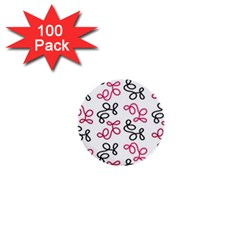 Red Elegance  1  Mini Buttons (100 Pack)  by Valentinaart