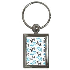 Blue Elegance  Key Chains (rectangle)  by Valentinaart