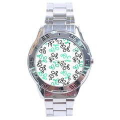 Green Elegance Stainless Steel Analogue Watch by Valentinaart
