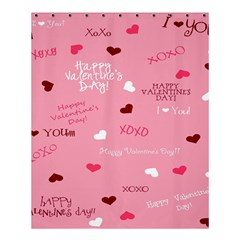 Happy Valentines Day Shower Curtain 60  X 72  (medium)  by AnjaniArt