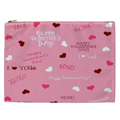 Happy Valentines Day Cosmetic Bag (xxl)