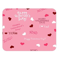 Happy Valentines Day Double Sided Flano Blanket (large)