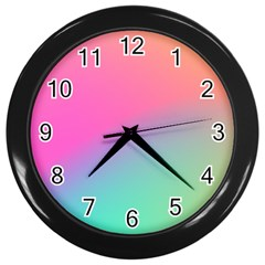Pink Blue Wall Clocks (black)