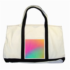 Pink Blue Two Tone Tote Bag