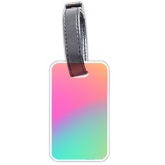 Pink Blue Luggage Tags (one Side)