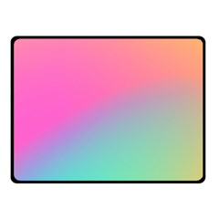 Pink Blue Double Sided Fleece Blanket (small)  by AnjaniArt