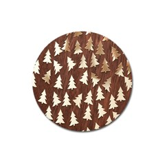 Gold Tree Background Magnet 3  (round)