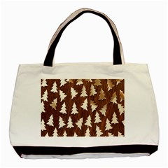 Gold Tree Background Basic Tote Bag (two Sides) by AnjaniArt