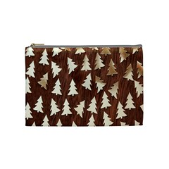 Gold Tree Background Cosmetic Bag (medium)