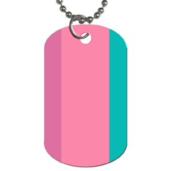 Pink Blue Three Color Dog Tag (two Sides) by AnjaniArt