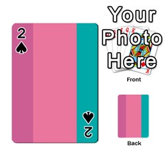 Pink Blue Three Color Playing Cards 54 Designs