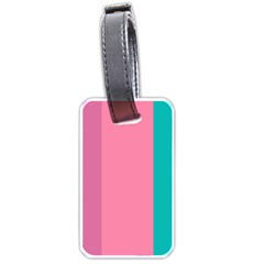Pink Blue Three Color Luggage Tags (one Side)
