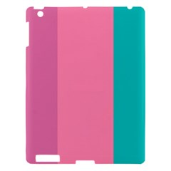 Pink Blue Three Color Apple Ipad 3/4 Hardshell Case by AnjaniArt