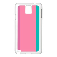 Pink Blue Three Color Samsung Galaxy Note 3 N9005 Case (white) by AnjaniArt