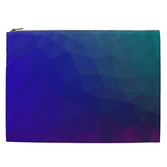 Polyart Dark Blue Purple Pattern Cosmetic Bag (xxl)