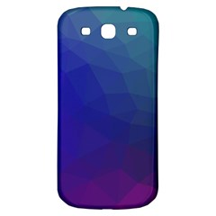 Polyart Dark Blue Purple Pattern Samsung Galaxy S3 S Iii Classic Hardshell Back Case
