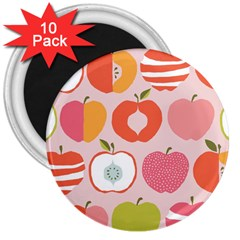 Pink Delicious Organic Canvas 3  Magnets (10 Pack)