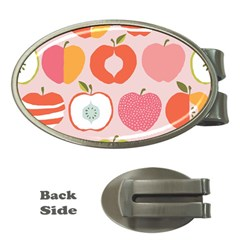 Pink Delicious Organic Canvas Money Clips (oval)
