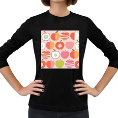 Pink Delicious Organic Canvas Women s Long Sleeve Dark T Shirts