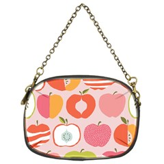 Pink Delicious Organic Canvas Chain Purses (two Sides)